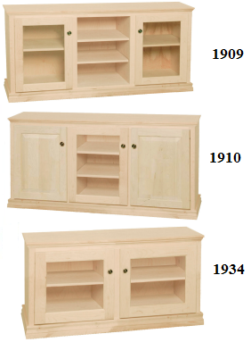 Traditional TV Stands: Unfinished Furniture