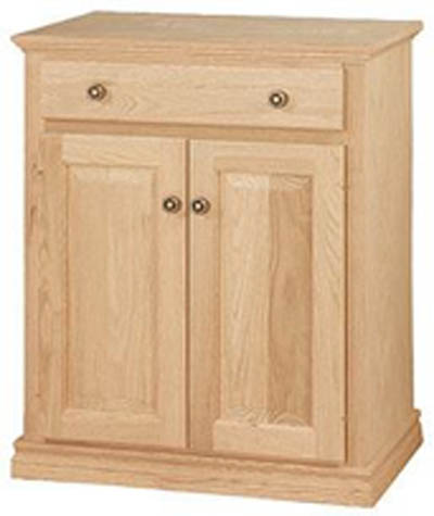 Unfinished Traditional Two Door One Drawer Microwave Cart 29 1