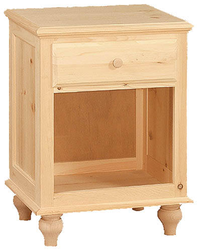 UNFINISHED ONE DRAWER NIGHT STAND