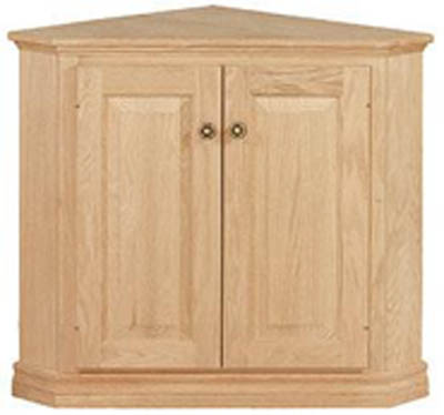 High Quality UNFINISHED TRADITIONAL ONE DOOR CORNER CABINET  21