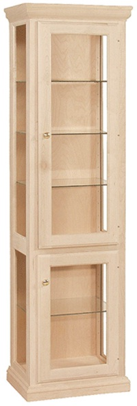 Unfinished Traditional Curio Cabinet 21 1 2