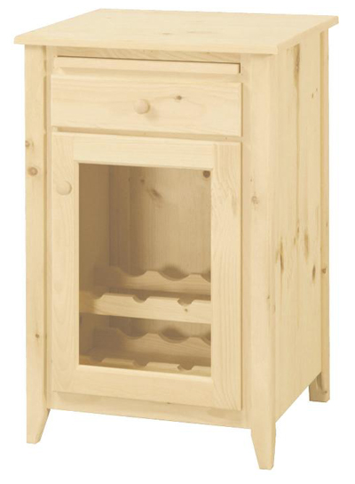 UNFINISHED WINE CABINET: Unfinished Furniture