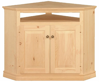Unfinished Traditional Corner Tv Cabinet Raised Panel Doors